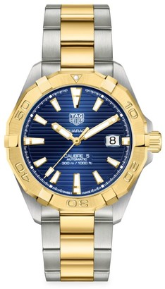 Tag Heuer Aquaracer 41MM Stainless Steel & Yellow Goldplated Bracelet Watch