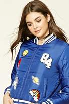 Forever 21 FOREVER 21+ Patch Puffer Jacket