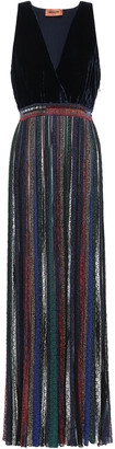 Missoni Velvet And Metallic Crochet-knit Maxi Dress