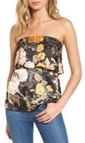 WAYF Women's Floral Strapless Top