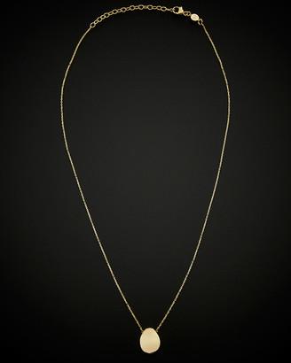 Italian Gold 14K Drop Oval Necklace