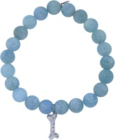 Sydney Evan Diamond Dog Bone Aquamarine Beaded Bracelet