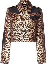 Givenchy leopard print grain de poudre jacket