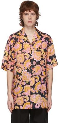Gucci Black Printed Short Sleeve Shirt