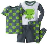 Gerber Toddler Boys' ; 4-Piece Frog PJ Set - Green