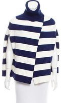 Julie Brown Striped Turtleneck Poncho w/ Tags