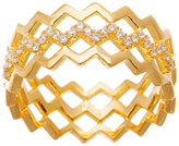 Bliss Cubic Zirconia & Gold Zigzag Cutout Ring