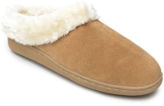 Minnetonka Hush Puppies Suede Slip-On Clog Slippers - Cailyn Clog