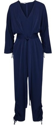 Stella McCartney Belted Ruched Crepe De Chine Jumpsuit