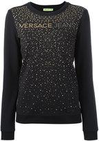 Versace studded detail sweatshirt - women - Cotton/Spandex/Elastane - XS