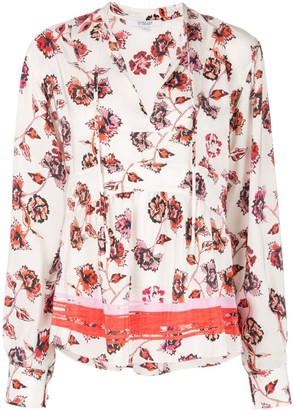 Derek Lam 10 Crosby French floral print blouse