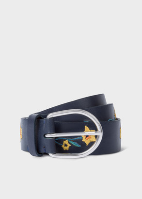Paul Smith Women's 'Alpine Aster' Embroidered Leather Belt
