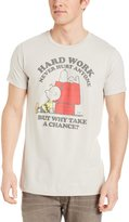 Hybrid Men's Peanuts Hardly Working Tee