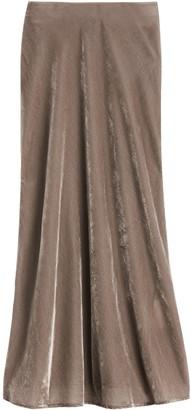 Banana Republic Petite Velvet Midi Slip Skirt