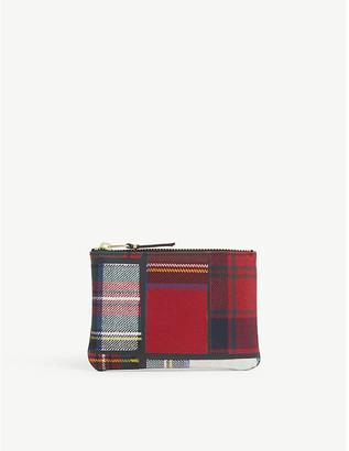 Comme Pocket Tartan wool-blend wallet