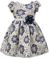 Jayne Copeland Blue Floral Lace Dress, Little Girls (4-6X)