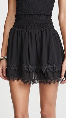 Peixoto Ruffle Miniskirt