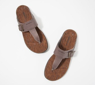 Merrell Leather Thong Sandals - Around Town Luxe Post