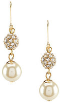 Anne Klein Faux-Pearl & Fireball Drop Earrings
