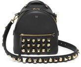 Fendi Studded Leather Crossbody Backpack