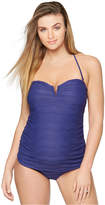 A Pea in the Pod Maternity Halter Crochet Tankini Swimsuit
