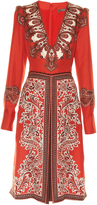 Alexander McQueen V-neck paisley-print dress