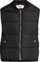 Ami Ribbed-neck quilted gilet