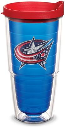 "Tervis 1087491""NHL Columbus Blue Jackets"" Tumbler with Red Lid Emblem 24 oz"