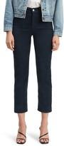 Levi's Wedgie High Waist Straight Leg Crop Cotton Blend Corduroy Pants