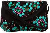 Giuseppe Zanotti Jeweled Embellished Suede Shoulder Bag