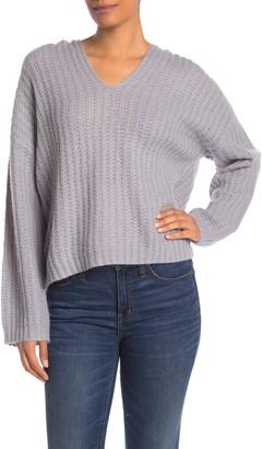 360 Cashmere Naomi Ribbed Cashmere V-Neck Sweater