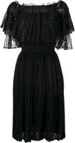 Alexander McQueen off the shoulder lace dress - women - Silk/Cotton/Polyamide/Viscose - S