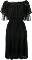 Alexander McQueen off the shoulder lace dress - women - Silk/Cotton/Polyamide/Viscose - XS