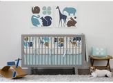 Baby Crib Bedding - Gio In Aqua