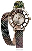 Vivienne Westwood Tate Wrap women's quartz Watch with gold Dial analogue Display and multicolour leather Strap VV055GDSN