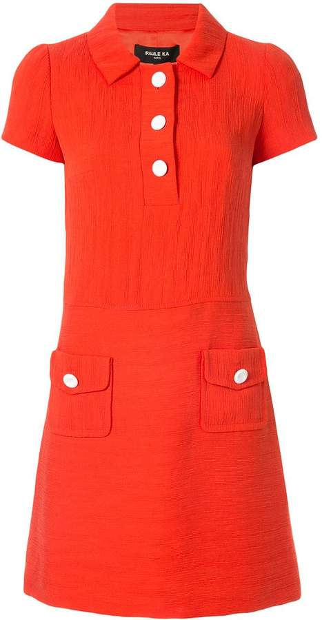 Paule Ka short-sleeve mini dress