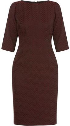 Helen McAlinden Vivienne Burgundy Jacquard Dress
