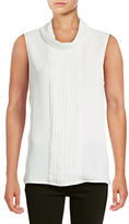 Karl Lagerfeld Paris Sleeveless Pleat Blouse