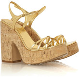 Topaz cork platform sandals