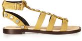Balenciaga Amp stud-embellished suede gladiator sandals