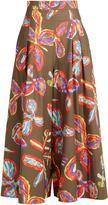 Peter Pilotto Floral-print wide-leg poplin culottes