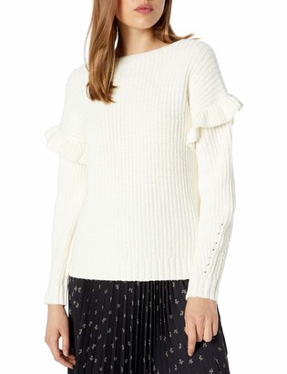 Kensie Women's Ruffle Detail Sweater