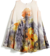 Helena Border Floral Swing Dress, Size 7-14