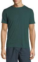 Derek Rose Basel 3 Crewneck Lounge T-Shirt, Green