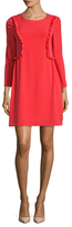 CeCe Carly Ruffle Trim Shift Dress