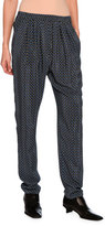 Stella McCartney Tie-Print Jogger Pants, Black Pattern