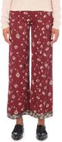 Etro Floral-print wide-leg crepe trousers
