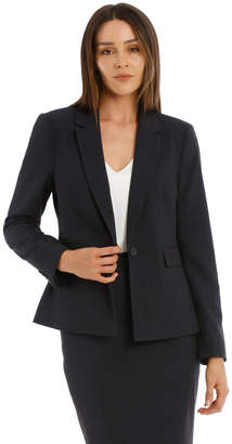 Basque Birdseye Navy Suit Jacket