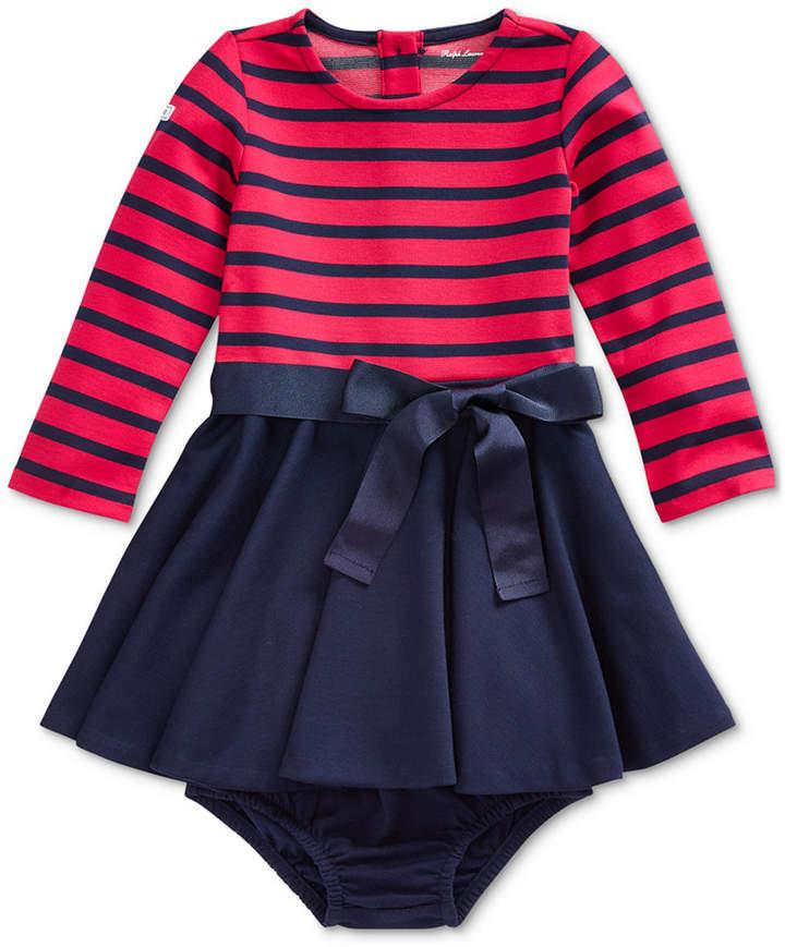 195f0912 Baby Girls Ponte Strip Dress
