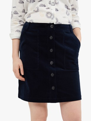White Stuff Manhattan Cord Skirt, Navy